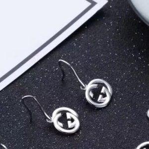 925 Silver GG Logo Earrings